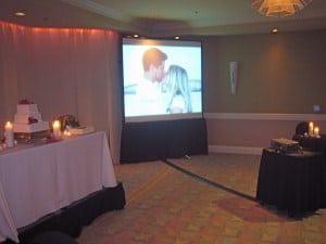 Projector Screen Slide Show